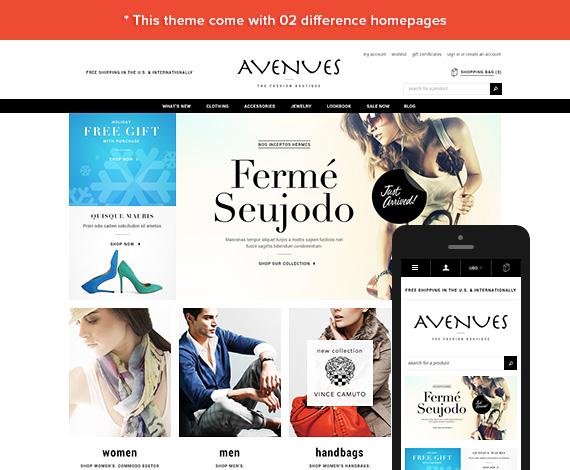 Avenues - Premium Responsive Bigcommerce Template