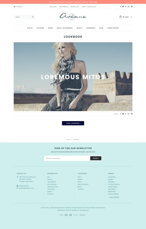 Avenue (Flat) - Responsive Fashion & Apparel Bigcommerce Theme: Stencil Ready