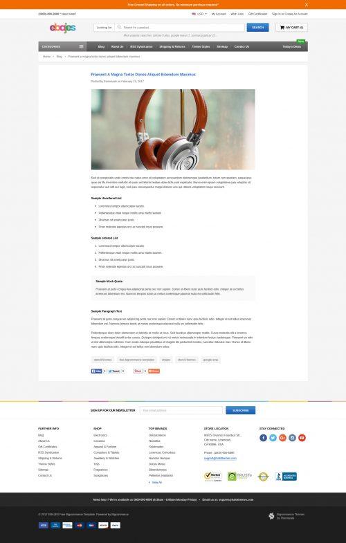 Ebajes - Free Responsive Bigcommerce Template (Stencil Ready)