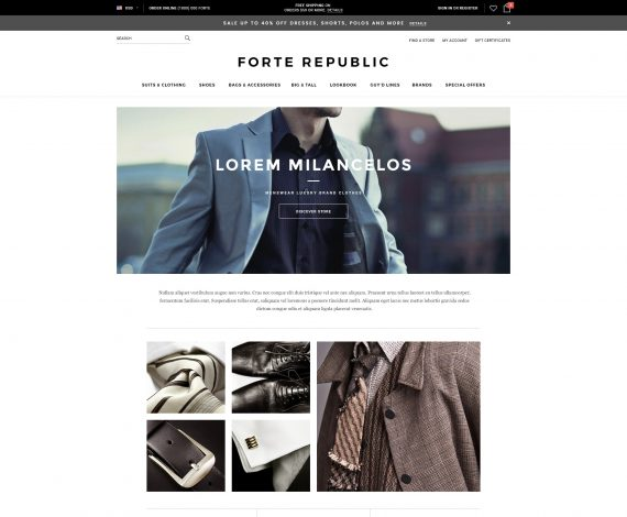 Forte - Premium Responsive Bigcommerce Template: New Store Demo Added