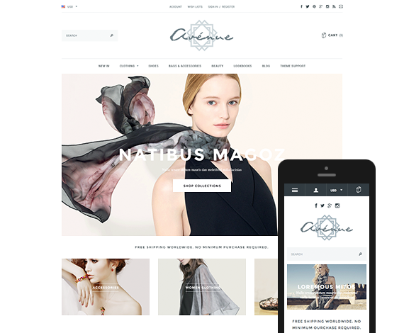Avenue - Responsive Fashion & Apparel Bigcommerce Theme: Release
