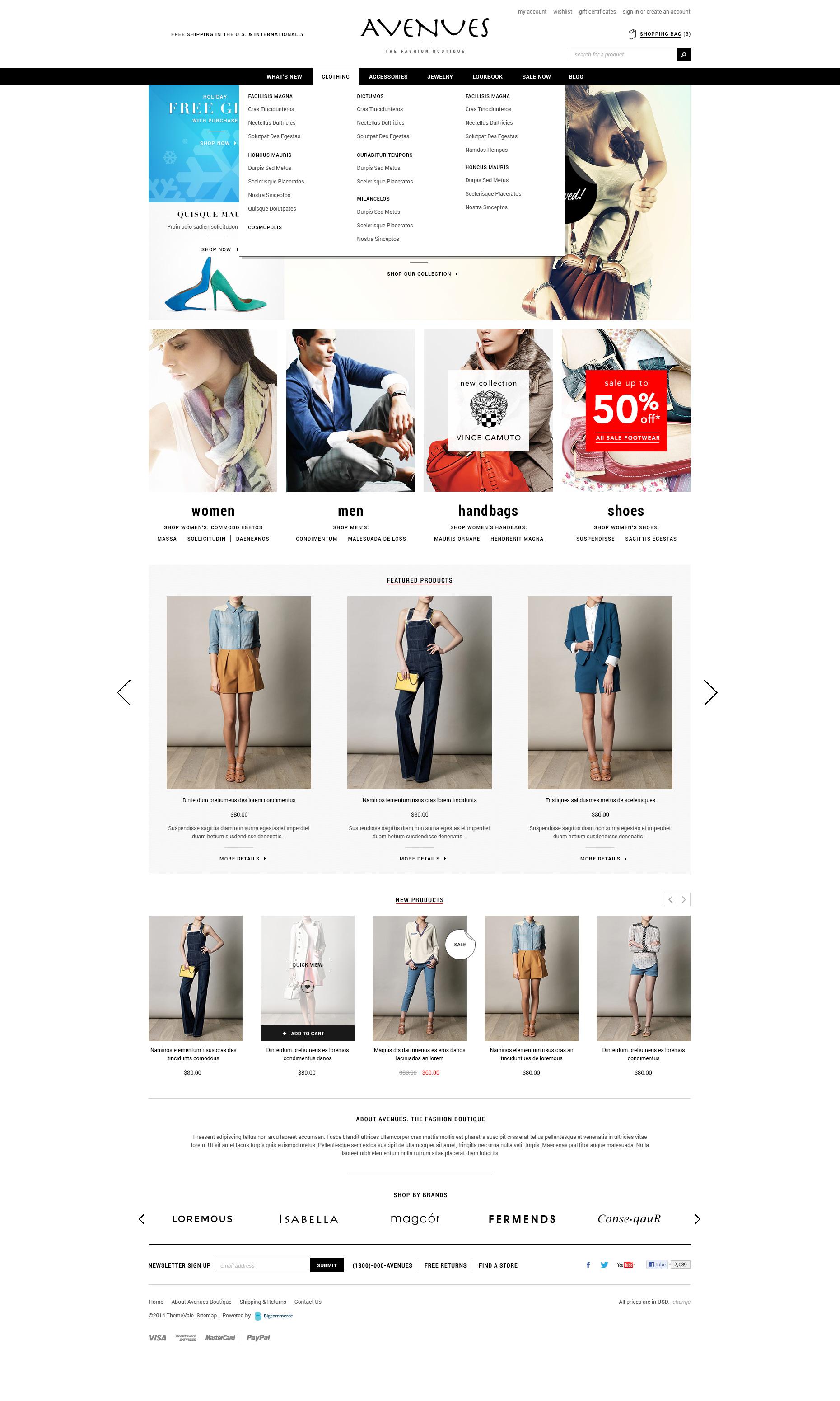 Avenues - Premium Responsive Bigcommerce Template - ThemeVale.com ...