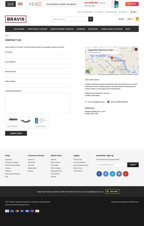 BRAVIS - Premium Responsive Bigcommerce Template (Stencil Ready)