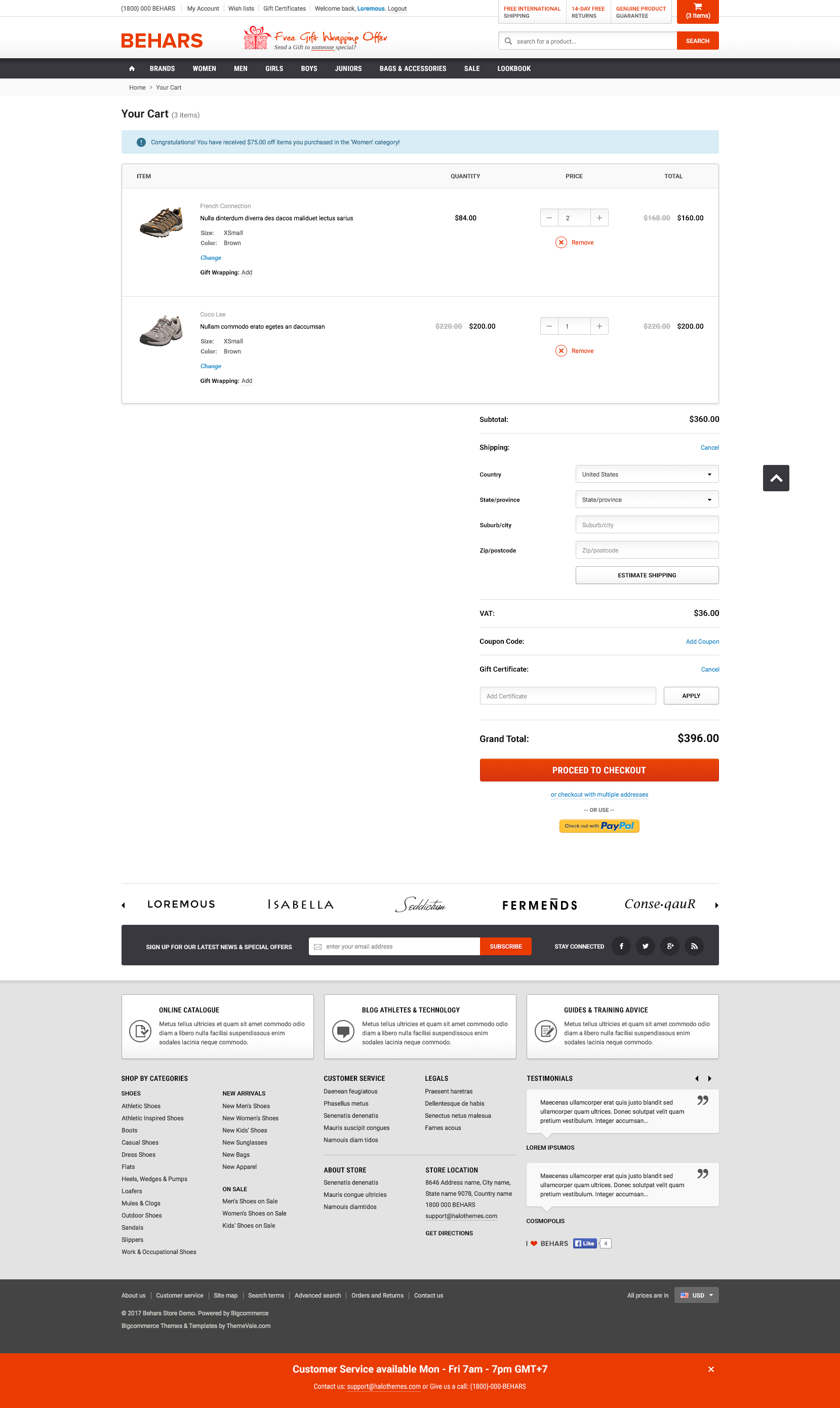 Behars Premium Responsive Bigcommerce Template Stencil Ready - Responsive shopping cart template