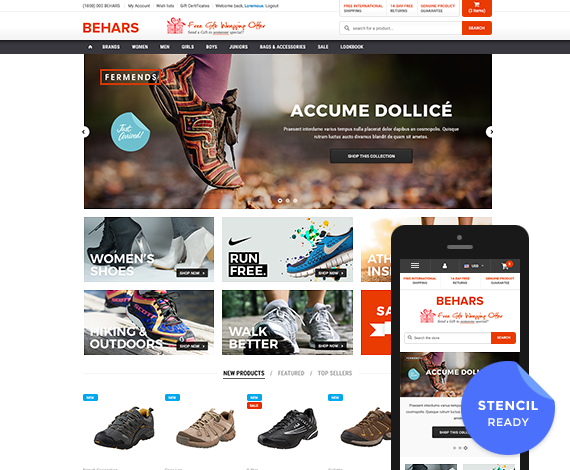 Behars - Premium Responsive Bigcommerce Template (Stencil Ready): Initial Release