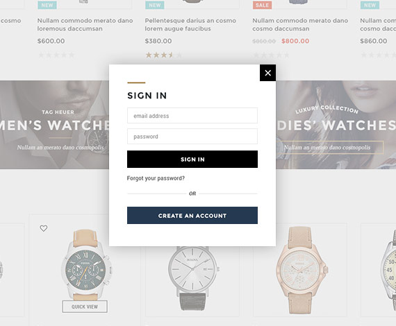 Bigcommerce Add-ons: Ajax Popup For Login & Registration (Stencil Ready) - Now Ready