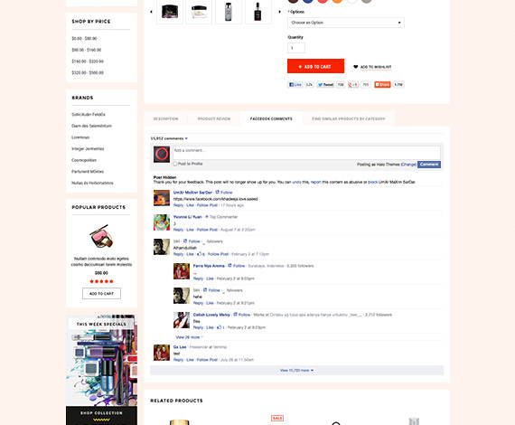 Bigcommerce Add-ons: Facebook Comments - Stencil Ready