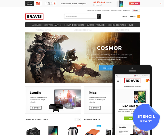 BRAVIS - Premium Responsive Bigcommerce Template (Stencil Ready): Initial Release