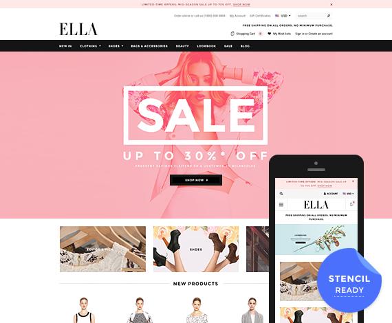 ELLA - Premium Responsive Bigcommerce Template (Stencil Ready): Initial Release