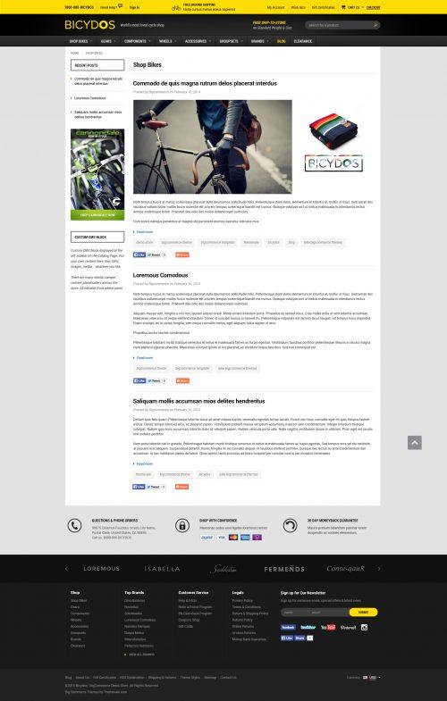Bicydos - Premium Responsive Bigcommerce Template (Stencil Ready)