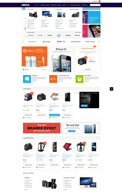 MEROS - Premium Responsive Bigcommerce Template (Stencil Ready)