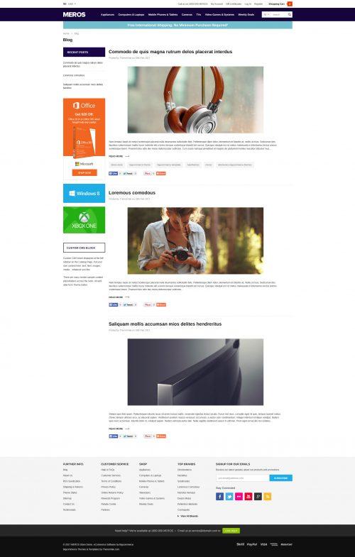 MEROS - Premium Responsive Bigcommerce Template (Stencil Ready)