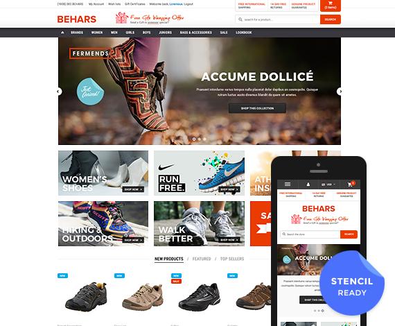 Behars - Premium Responsive Bigcommerce Template (Stencil Ready)
