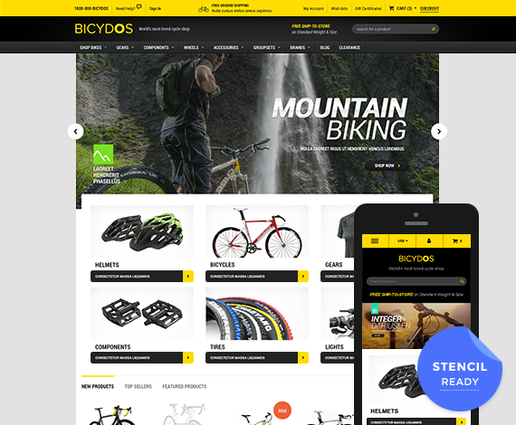 Bicydos - Premium Responsive Bigcommerce Template (Stencil Ready)