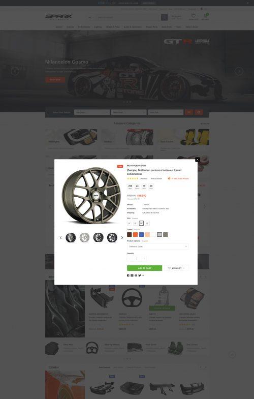 Spark - Cars & Auto Parts Automotive BigCommerce Theme (Stencil Ready)