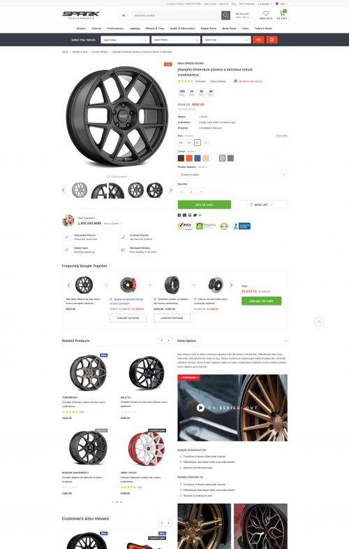 SPARK - Cars & Auto Parts Automotive BigCommerce Theme (Stencil Ready): Initial Release