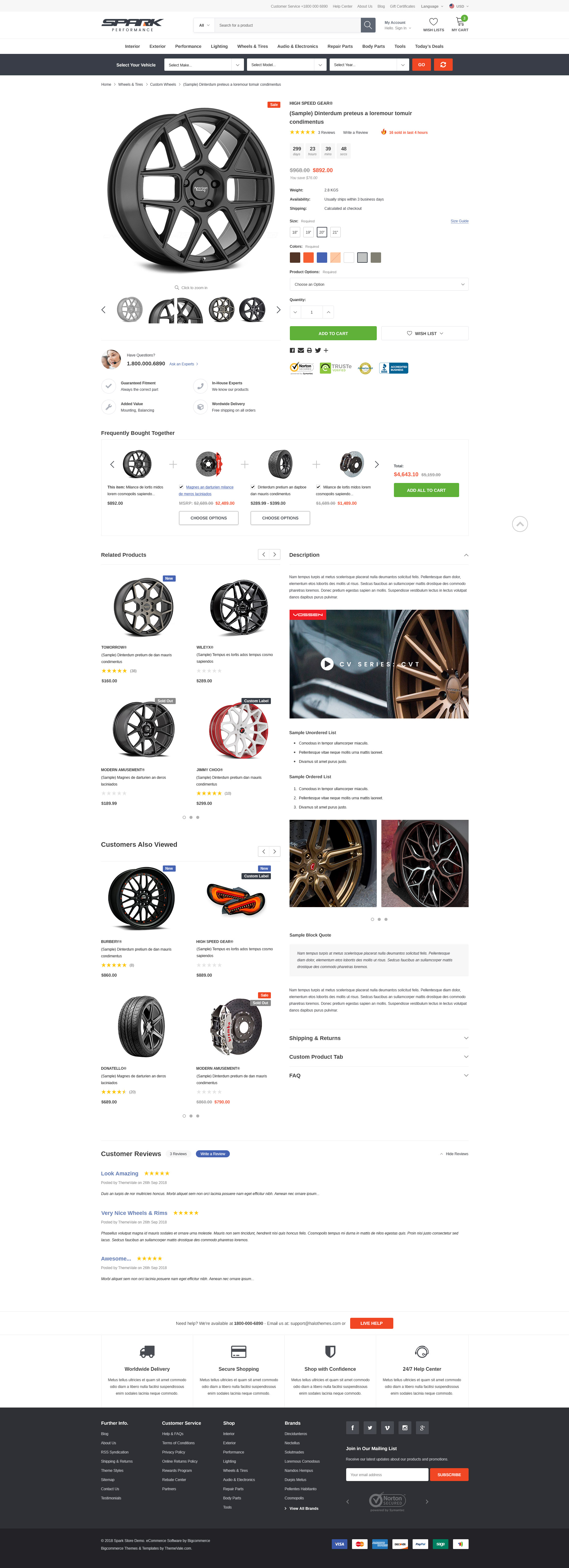 SPARK - Cars & Auto Parts Automotive BigCommerce Theme (Stencil Ready): Initial Release