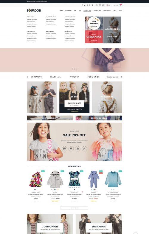 Bourdon – Premium Responsive BigCommerce Template (Stencil Ready)