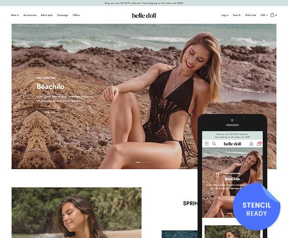 Belle Doll – Beachwear & Bikinis BigCommerce Theme (Stencil Ready)