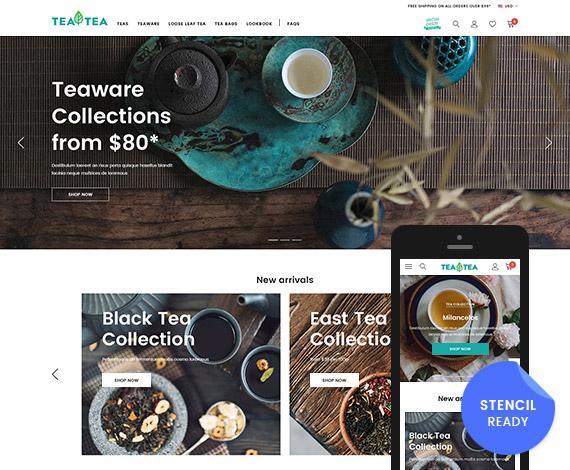 Tea & Coffee - Responsive BigCommerce Stencil Template