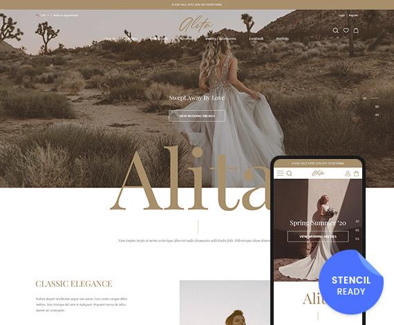 Alita Bridal - Wedding Bigcommerce Stencil Template